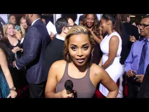 Lauren London Flirts w/ Trey Songz & Calls Rihanna a Grown A** Woman! | Baggage Claim Premiere!