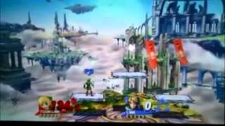Toon Link circles around battlefield twice!