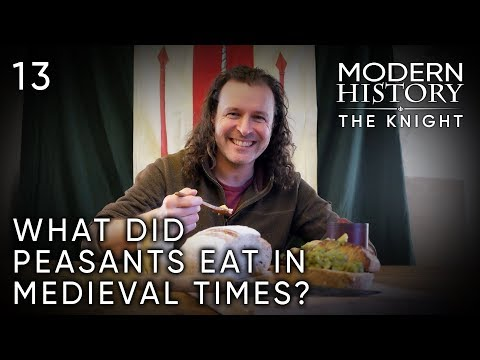Preparing a Typical Peasant Meal From Medieval