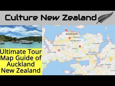 Ultimate Tour Map Guide of Auckland - New Zealand