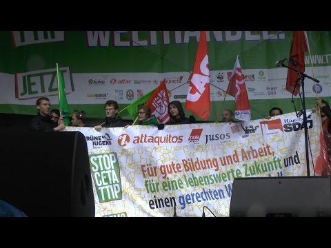 Jugendblock auf der Demo gegen TTIP und CETA in München