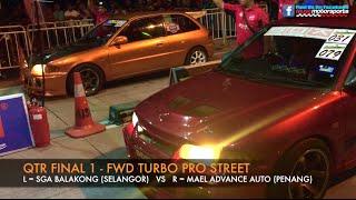 MUSC Kulim 201m Drag Race 2015 - Fwd Turbo Pro Street Video