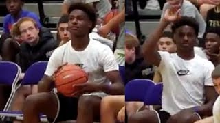 Bronny Jr Shouts STEPH CURRY As He Shoots A Wild 3Pointer From The Sidelines! by Obsev Sports