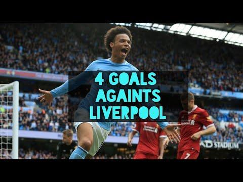 Leroy Sane • 4 Goals Vs Liverpool