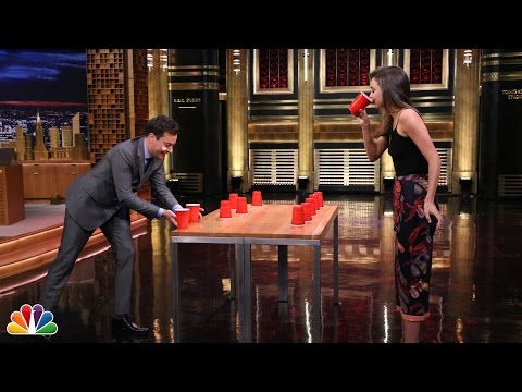 flip - Jimmy and model Miranda Kerr go head-to-head in the classic drinking game Flip Cup. Subscribe NOW to The Tonight Show Starring Jimmy Fallon: http://bit.ly/1nwT1aN Watch The Tonight Show...