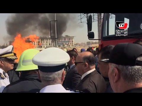 مدير الأمن ومحافظ القاهرة يتفقدان موقع انفجار خط الغاز بالتجمع الخامس