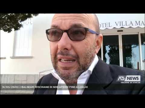 31/03/2020 | I BALNEARI RISCHIANO DI NON APRIRE FINO A LUGLIO