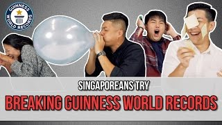 Video Singaporeans Try: Breaking Guinness World Records | EP 81 MP3, 3GP, MP4, WEBM, AVI, FLV Februari 2019