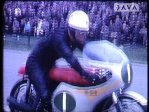 Close-up motorcycle action from the Assen TT 1960-1962