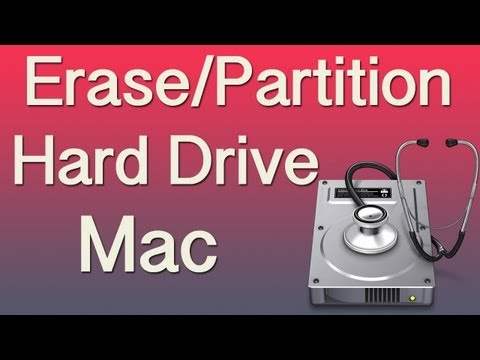 How to Erase and Partition a Hard Drive on a Mac Tutorial