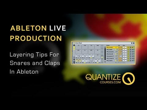Ableton Live Tutorial – Snare Layering Tips – Includes Free Drum Rack