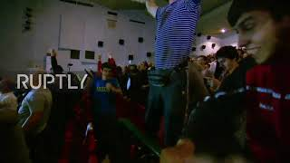 Video Russia: Fans go wild after Khabib defeats McGregor via 4th round submission MP3, 3GP, MP4, WEBM, AVI, FLV Desember 2018