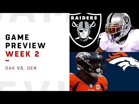Oakland Raiders vs. Denver Broncos | Week 2 Game Preview | NFL Playbook