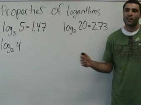 yaymath - This lesson shows the main properties of logarithms as we tackle a few problemos using them. YAY MATH, boo! Visit yaymath.org Videos copyright (c) Yay Math.