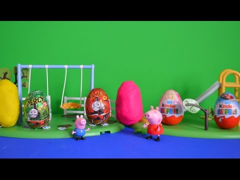 surprise - Peppa pig episode peppa pig and george pig go to the park when peppa pig sees play-doh surprise eggs Thomas and friends surprise eggs and barbie kinder surprise eggs and hot wheels surprise...