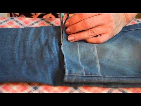 Как сделать из старых штанов