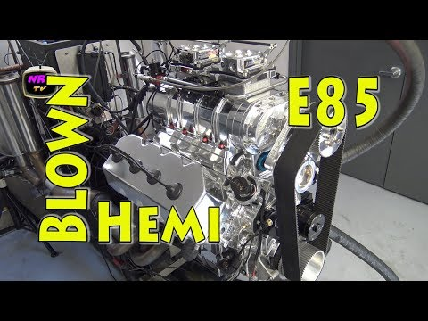 Monster 1150 HP E85 Blown 588 CI Chrysler Hemi.  Nelson Racing Engines.