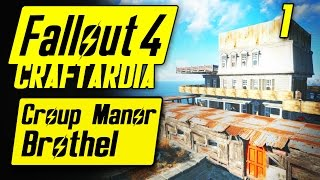 Fallout 4 Croup Manor Brothel #1 - Base Building Timelapse - Fallout 4 Settlement Building [PC]