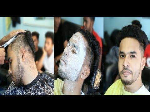 Beard styles - MEN'S HAIRCUT & HAIRSTYLE FACE WASHING & BEARD TRIMMING  HAIR STYLE