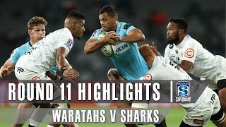 Waratahs v Sharks Rd.11 2019 Super rugby video highlights | Super Rugby Video Highlights