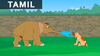 Jataka Tales in Tamil - A Funny Animated Stories  - Elephant and the Dog - Kids Animation / Cartoon