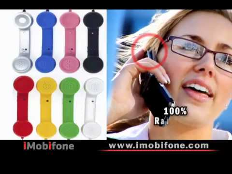 handsets - iMobifone is the solution for cell phone radiation with retro styled mobile phone handsets in different colors.