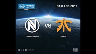 Team EnVyUs vs fnatic - IEM Oakland 2017 EU Quals - map1 - de_cobblestone [sleepsomewhile, MintGod]