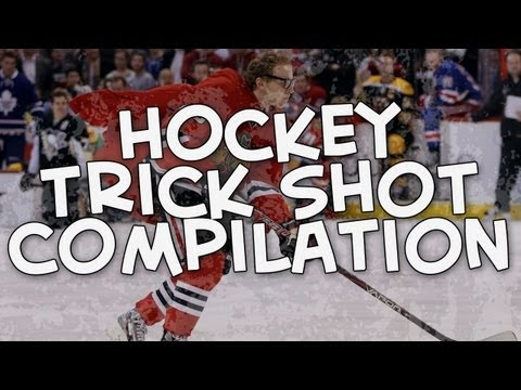 Trickshot - The best hockey trick shots all in one video! Enjoy! I do not own these clips, they belong to the NHL. My website: http://www.talkhockey.ca/