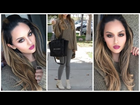 Fall Makeup Hair & Outfit Ideas l Christen Dominique
