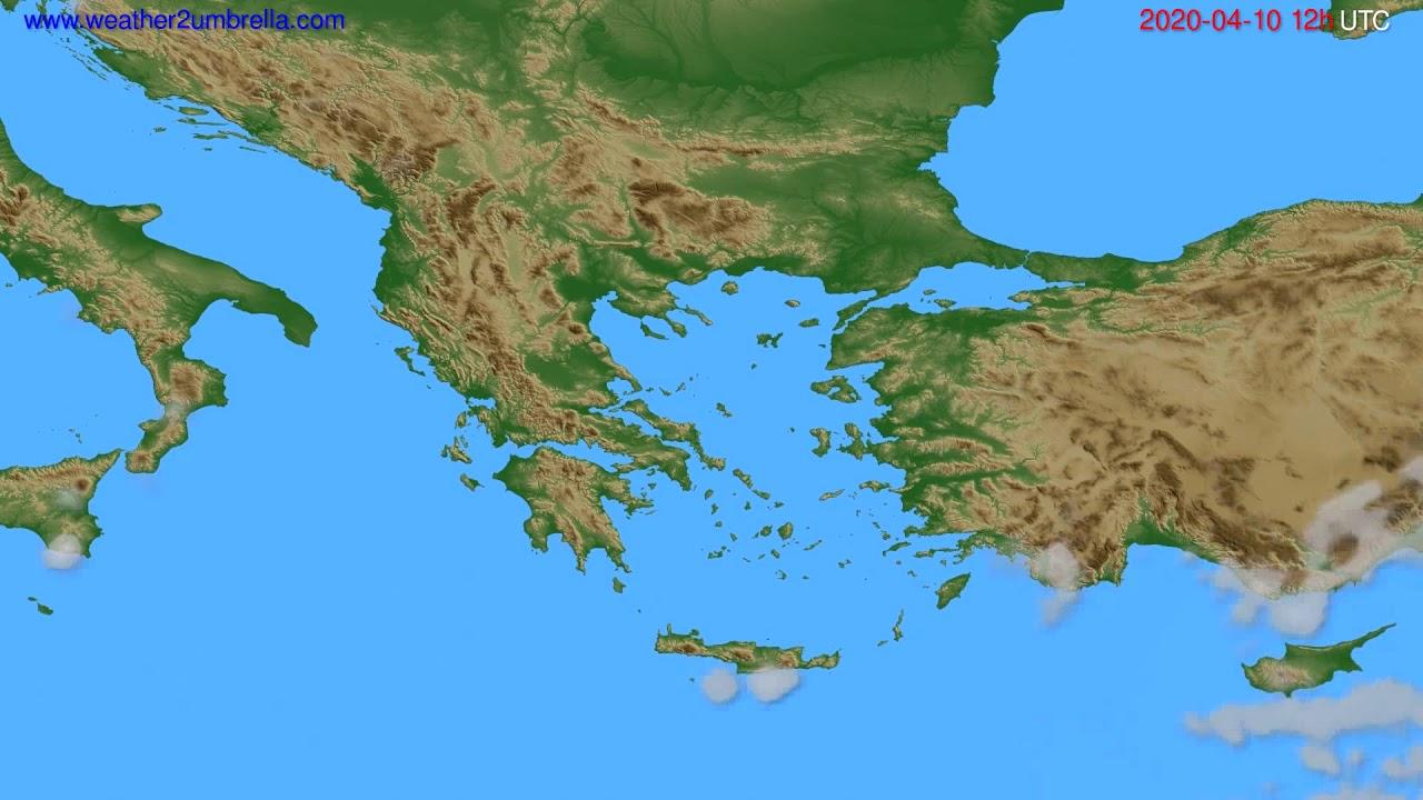 Cloud forecast Greece // modelrun: 00h UTC 2020-04-10