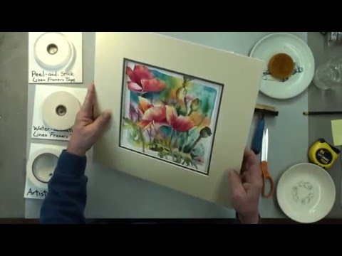 How to mat an artwork.  Hinging and mounting by our professional framer. (видео)