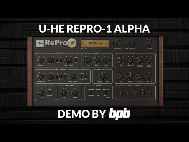 U-He RePro-1 Alpha DEMO (Free VST Synthesizer)