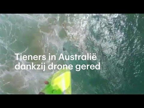 Australische tieners met drone gered uit zee  - RTL NIEUWS