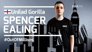 "Up next as a player to watch at the FIWC Grand Final in London is Spencer ""Unilad Gorilla"". Spencer was one of our first qualifiers coming out of the FUT Championship series. Take a look at what he has to say about being one out of millions who was able to make it through the world's largest video game tournament."