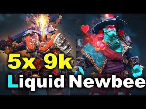 Liquid vs Newbee - 5x 9k MMR Game - DAC 2017 DOTA 2 (видео)
