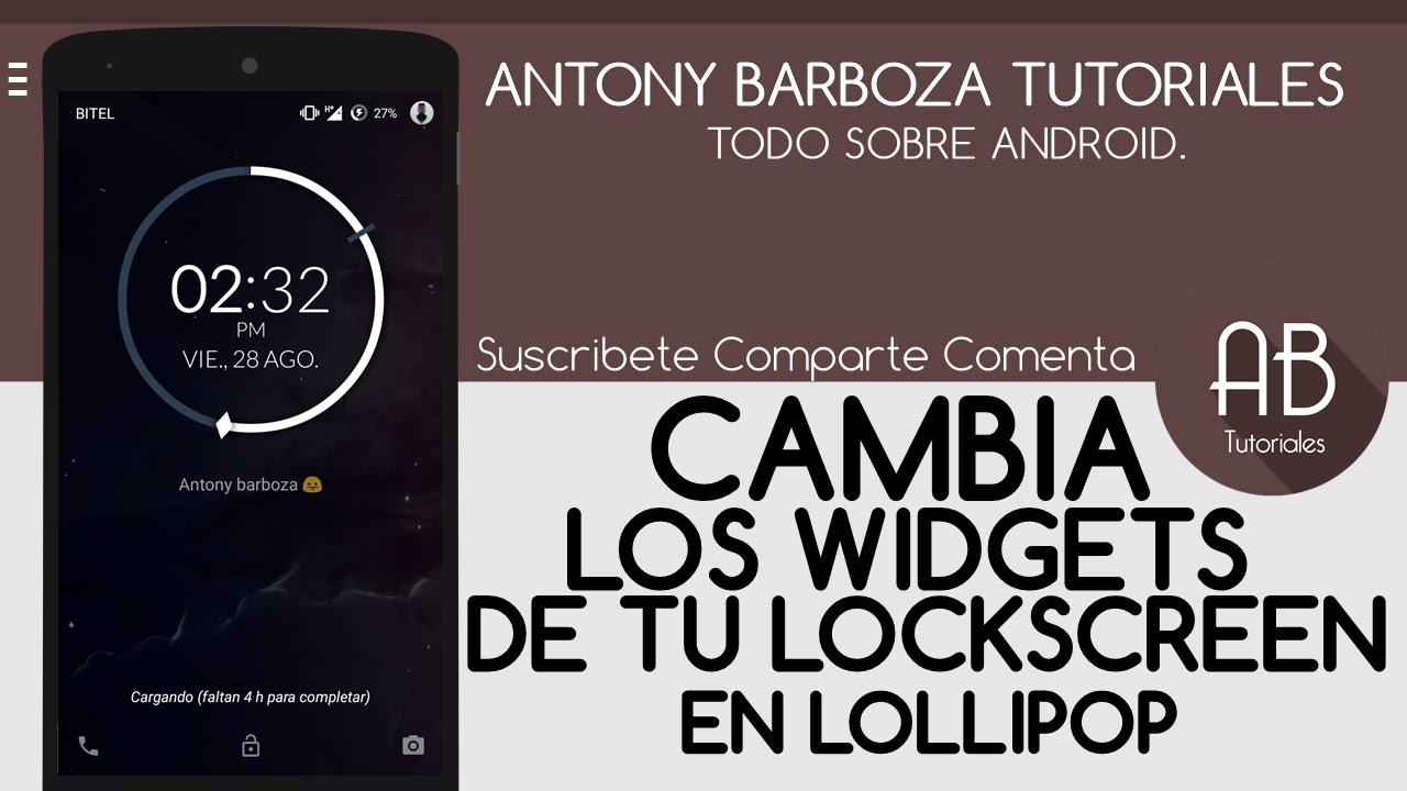 Descargar Cambia los widget de tu lockscreen en lollipop [Xposed] | Root para Celular  #Android