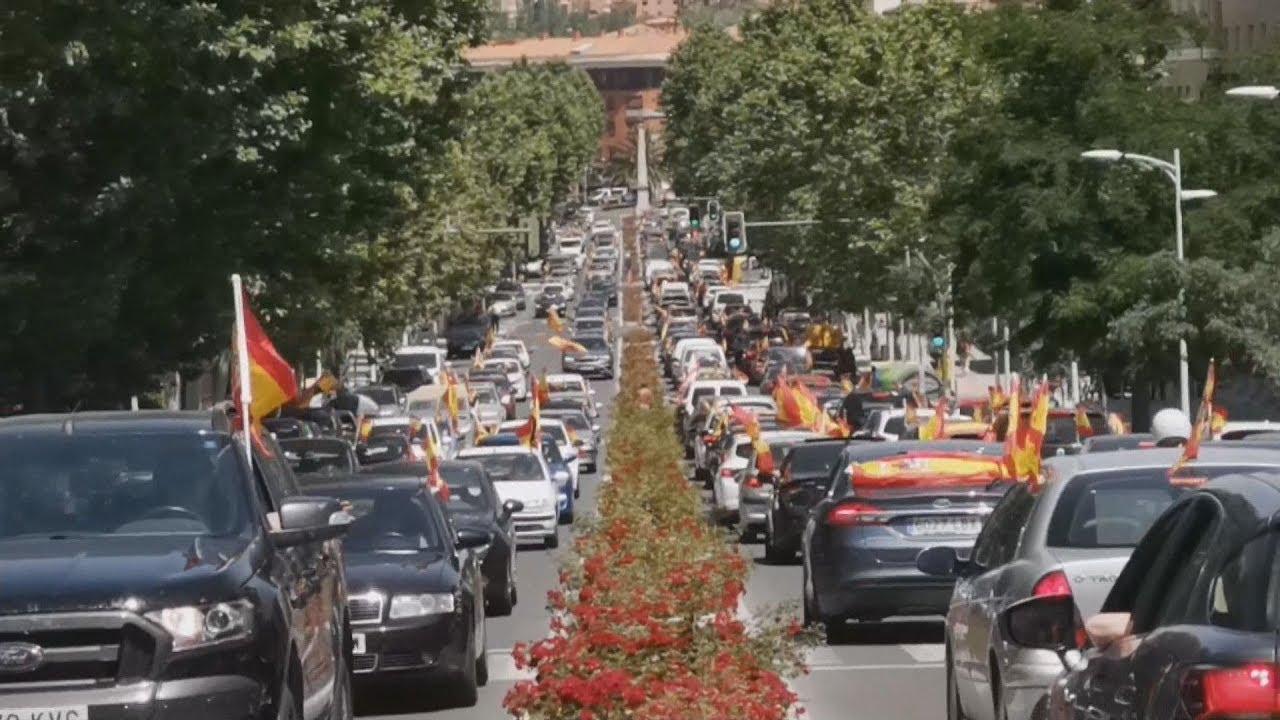 Διαμαρτυρία του κόμματος VOX κατά της καραντίνας στην Ισπανία