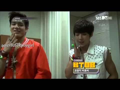 HD | BTOB MINHYUK + ILHOON + PENIEL dancing & singing Orange Caramel – Lipstick