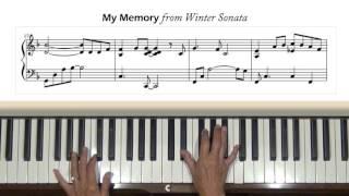 Video My Memory from Winter Sonata Piano Tutorial MP3, 3GP, MP4, WEBM, AVI, FLV Juni 2018