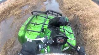 10. 2013 arctic cat 700 mud pro test drive