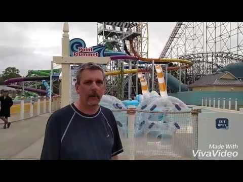 Cedar Point Media Opening of Point Plummet (видео)