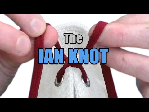 The fastest way to tie your shoes. (The Ian Knot)