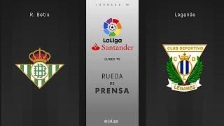 Rueda de prensa R. Betis vs Leganés
