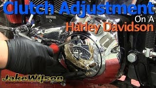 4. Harley Davidson Clutch And Clutch Cable Adjustment