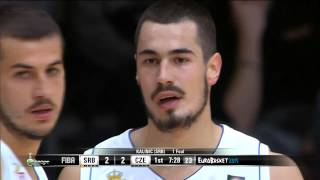 EuroBasket 2015 - Quarter-Final:  Serbia -Czech Republic HD (Russian commentary)