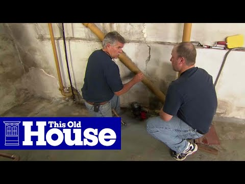 How to Repair a Crack in a Concrete Foundation - This Old House