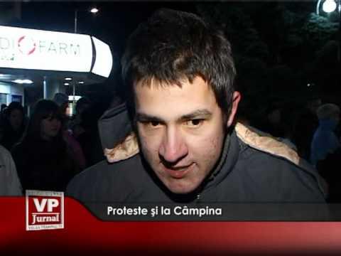 Proteste şi la Câmpina