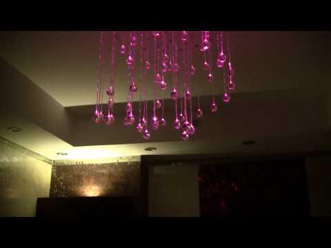 Zestaw Kryształowe Kule - Lampy Światłowodowe, dekoracja do łazienki, oświetlenie do sufitu w łazience
