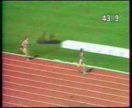 Marita Koch 47.60 RM 400 metros Canberra 6-Oct-1985