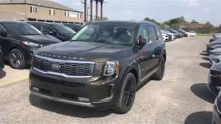 2020 Kia Telluride SX V6 AWD. Dark Moss color.